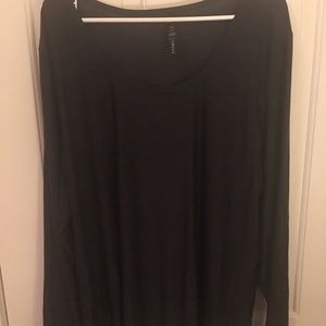 Silky long sleeve work out top